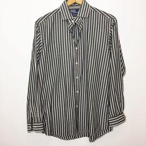 NWOT Polo Ralph Lauren Men's Striped shirt gray M